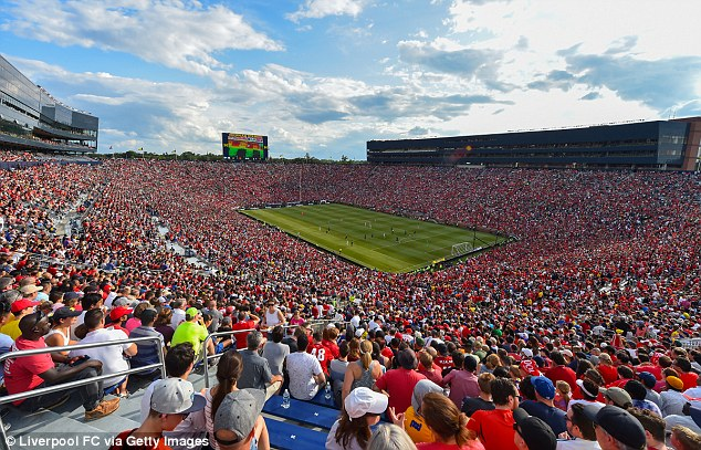 Over 100,000 fans packed into 'The Big House' in Michigan to watch the game on Saturday