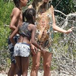Heidi Klum spends time with her family at the beach in Sardina