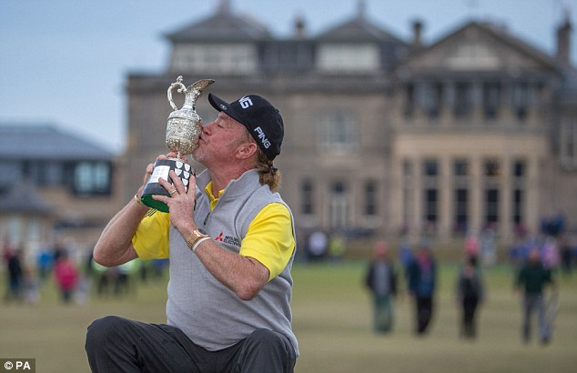 Miguel Angel Jimenez sealed a one-shot victory after a late assault from Bernhard Langer