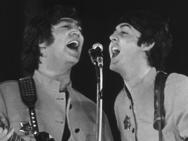 The two Beatles frontmen each penned some of the band's hits, but debate rages over who actually created 'In My Life'. Sir Paul McCartney (left) says he put John Lennon's (right) lyrics to music, while Lennon insisted his colleague had minimal input