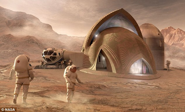 Not only do these final designs look good but they also have the right thickness, heating and pressure to withstand extreme Martian conditions. Pictured is the entry fromSEArch+/Apis Cor from New York. They received $19,580.97