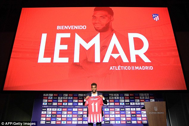 Thomas Lemar's official Atletico Madrid presentation took place on Monday afternoon