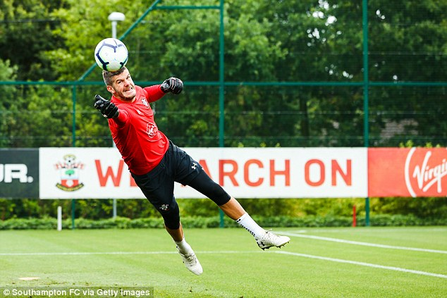 Fraser Forster could be available for Burnley to take from Southampton on a temporary deal