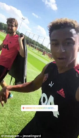 He was walking across the pitches at United's training base, Carrington