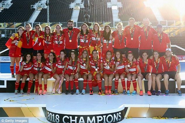Earlier on Sunday, Spain beat Australia 3-1 in bronze medal match atLee Valley Hockey Centre