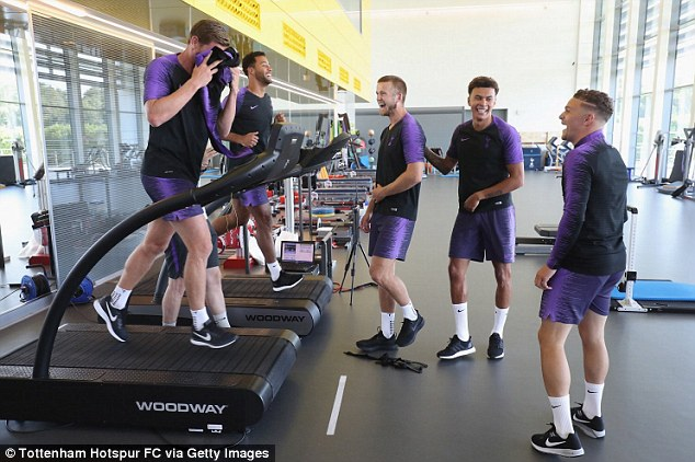 Tottenham's World Cup heroes have a laugh as they look to try and get back their match fitness
