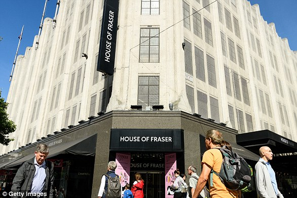 House of Fraser nearly plunged into administration but was rescued at the eleventh hour by Mike Ashley