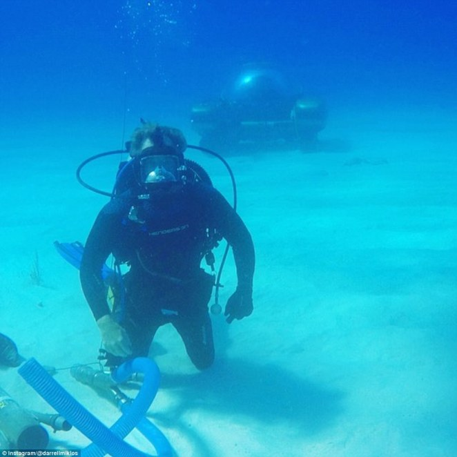 The deepest part of the site is 300 feet below the surface, divers had to use special breathing apparatus and a state of the art submarine to access it