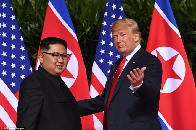 When negotiations between Trump and Kim break down the two leader resort to throwing insults at one-another while Trump's advisers ratchet up pressure on North Korea by conducting military drills on the border, which culminates in a war that none of those involved were actively trying to cause