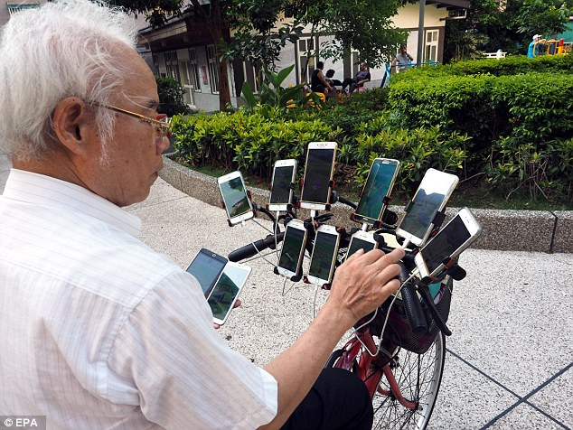The Feng Shui master said he spends about £1,165 a month on his many Pokemon Go app purchases and the equipment needed to power his gear