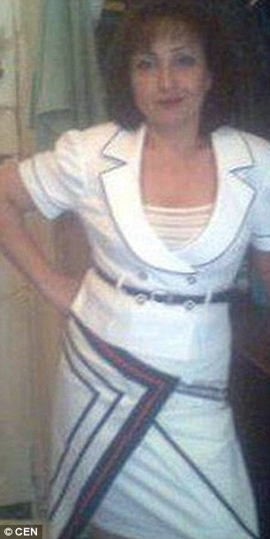 The first picture released of alleged cannibal Natalia Baksheeva, 42