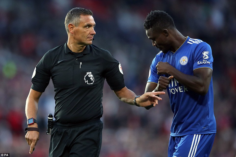 Daniel Amartey gave away the penalty when he was judged to have handled in the area after an Alexis Sanchez shot
