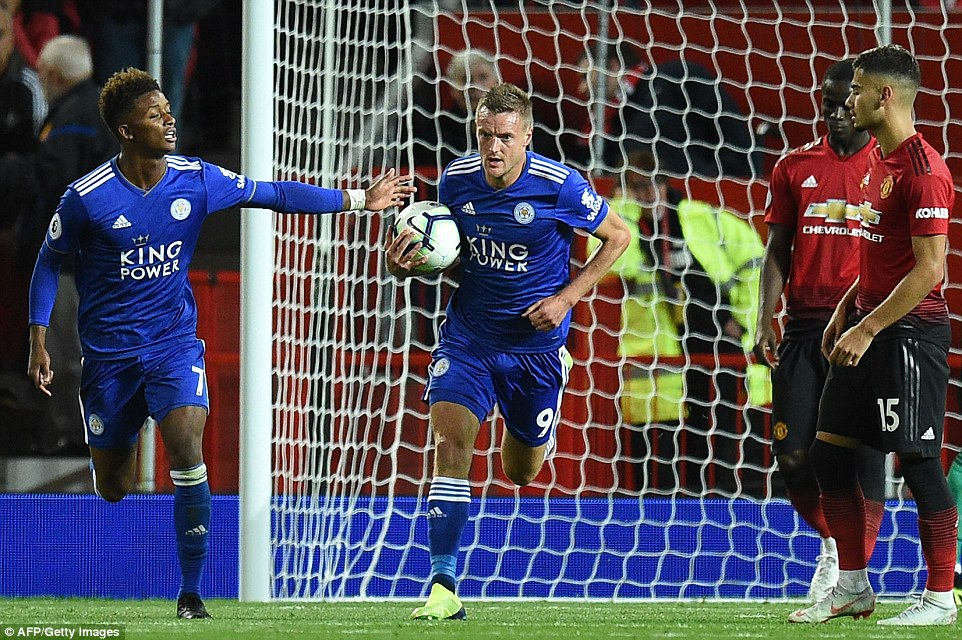 Vardy raced straight back to the centre circle after scoring as Leicester chased a point, but eventually they ran out of time