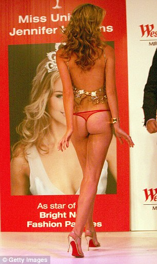 Never forget! Before hitting it big with Myer, Jennifer was a pageant queen walking runways in Sydney shopping malls