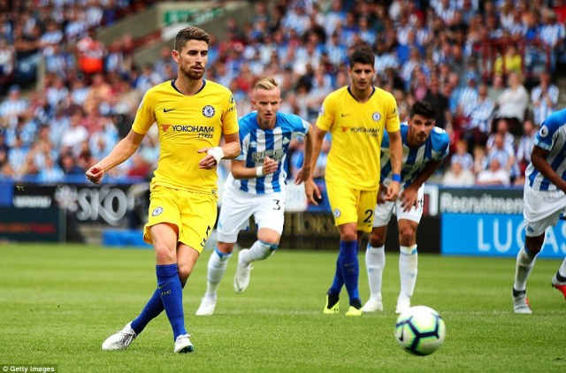Jorginho stepped up and nonchalantly dispatched the spot kick with real ease to double Chelsea's advantage