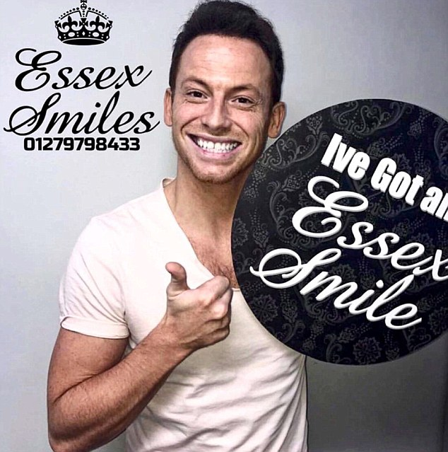 Essex Smiles' promotional material features EastEnders actor and I'm a Celebrity... Get Me Out Of Here winner Joe Swash