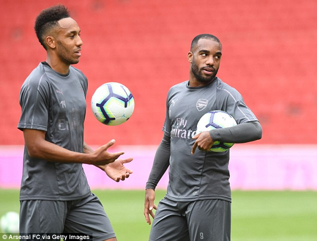Alexandre Lacazette will also be expected to provide the firepower for the Gunners