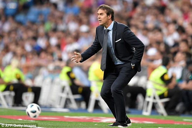Julen Lopetegui looked animated as he dished out instructions from the touchline