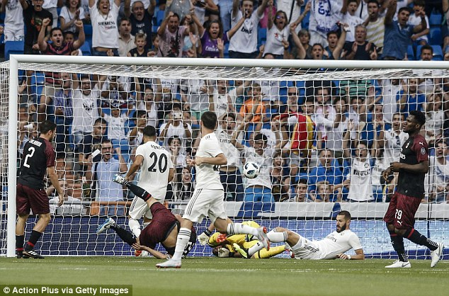 Karim Benzema bundled in the opener after just two minutes had passed in the match
