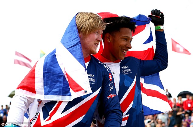 Kyle Evans (left) and Kye Whyte claimed a British 1-2 in the BMX in Glasgow on Saturday