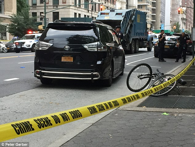 An NYPD spokesman said a Toyota pulled out in front of Madison, news.com.au reported