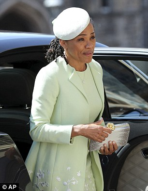 Doria Ragland arrives for the wedding ceremony of Prince Harry and Meghan Markle at St. George's Chapel in Windsor Castle on May 19, 2018