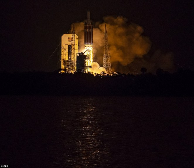 The United Launch Alliance Delta IV Heavy rocket launches NASA's Parker Solar Probe to touch the Sun, from Launch Complex 37 at Cape Canaveral Air Force Station, Florida,