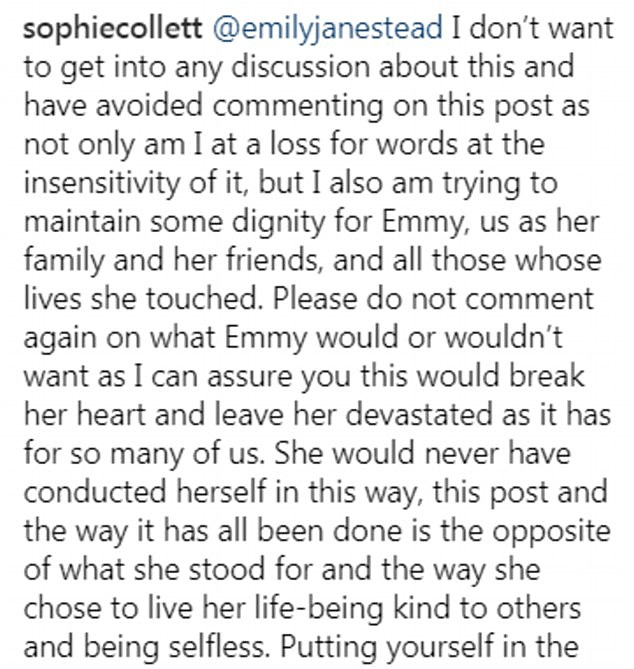 After announcing their relationship back in February Emmy's sister claimed that she would have been 'devastated'
