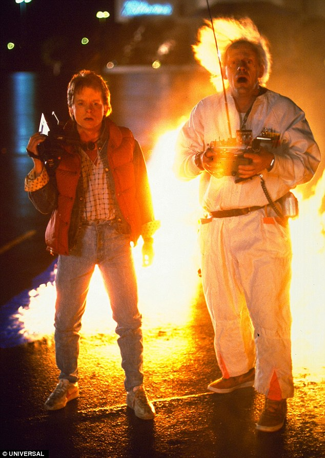 Back to the past: Michael J Fox and Christopher Lloyd played Marty McFly and Doc Brown respectively