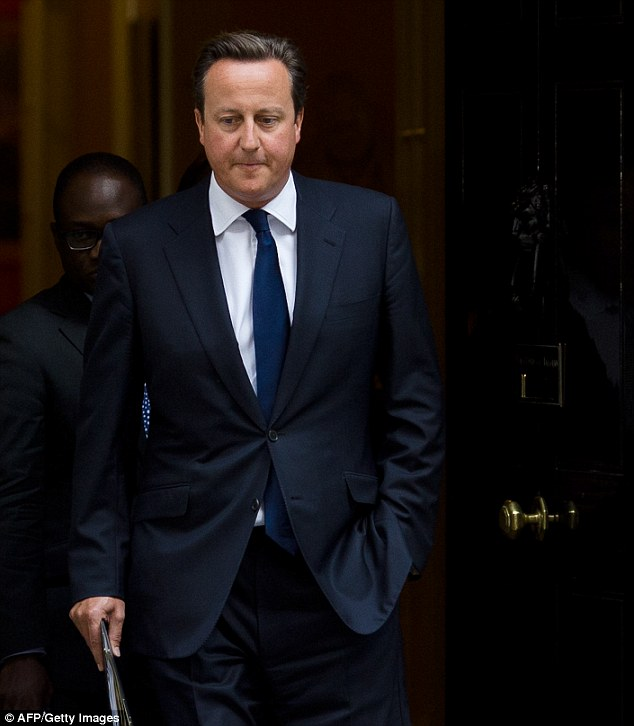 David Cameron had to wait three days to speak to Barack Obama after Assad's horrifying chemical attack on his own people. Pictured: Cameron on August 29, 2013