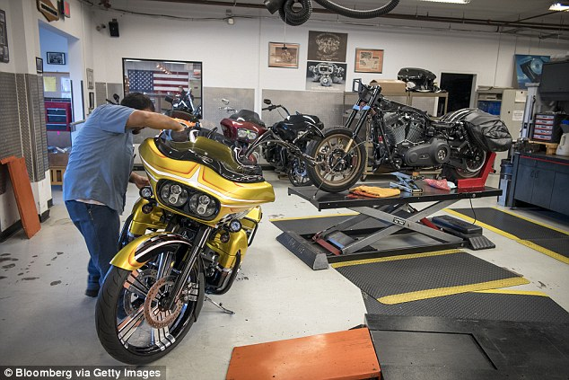 But that status made Harley-Davidson (file image) a target for EU retaliation, along with bourbon and blue jeans