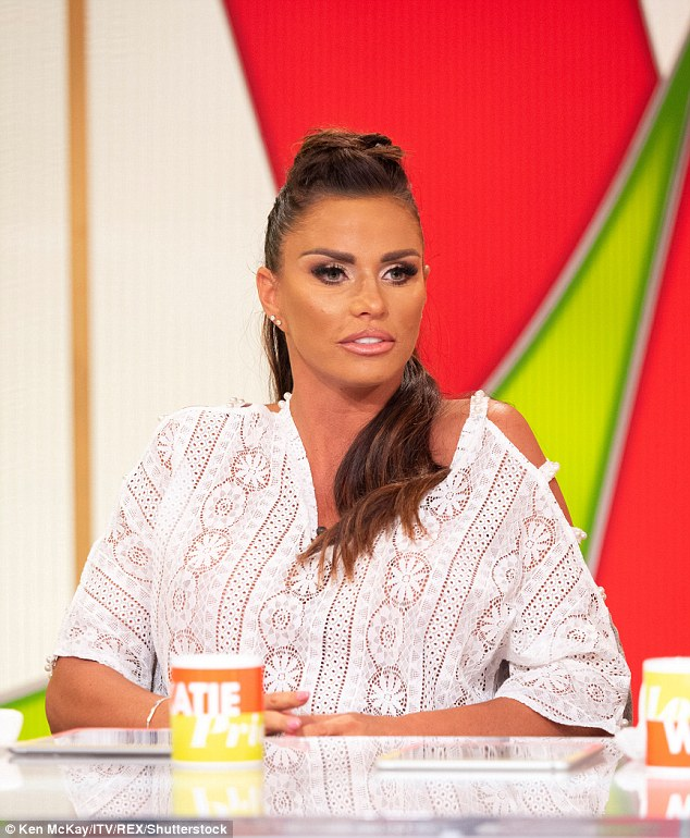 Financial woes:Katie Price has reportedly attempted to sell her £150,000 pink horse box after she was given three months to pay off her debts, totalling £250,000