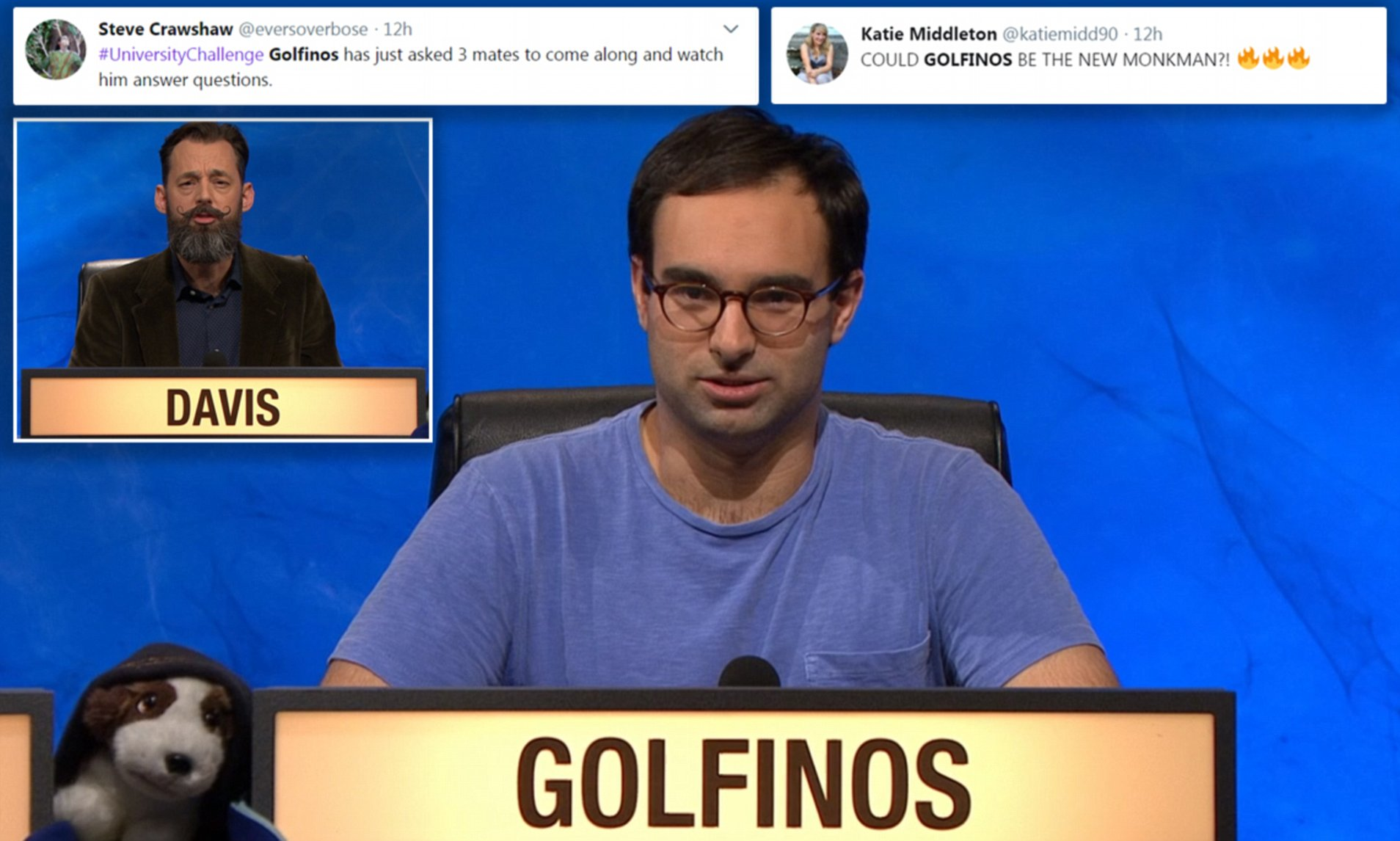 Fans Go Wild For University Challenge Contestant Jason Golfinos