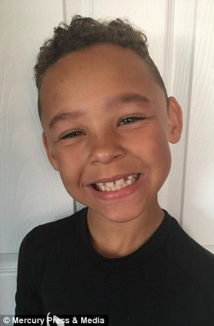 Eight-year-old schoolboy Fabian Butler, from Gwent pictured without makeup