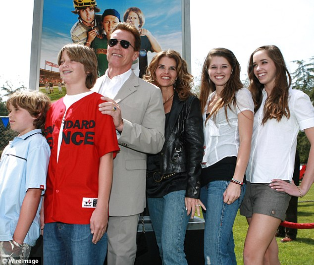 Still married!Maria's spotting comes after it was reported last month that she was still married to ex Arnold Schwarzenegger, 70 - despite filing for divorce in 2011; the family in 2006