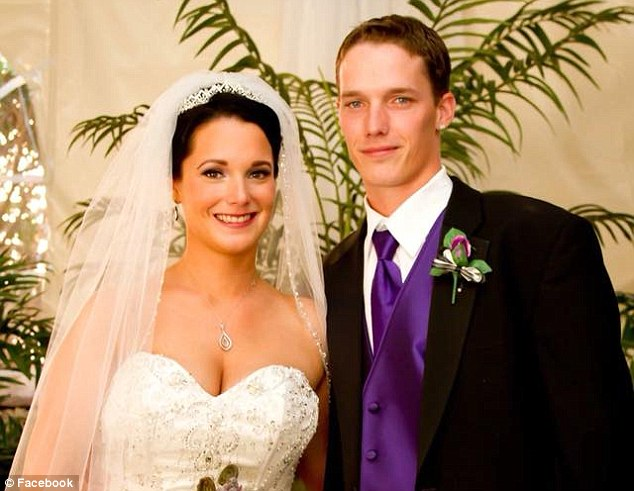 Shanann and Watts at their wedding. The couple is said to have left North Carolina in a hurry in 2012, with Shanann selling her house with all the furniture still inside
