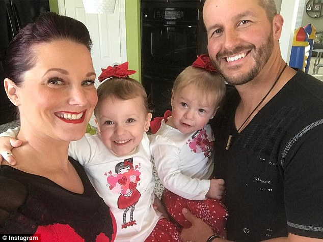 Christopher and Shanann are seen with their two daughters. Police say that he confessed to the murders and tried to hide the bodies in the oil field where he worked