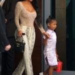 Kim Kardashian dons snakeskin ensemble in Miami