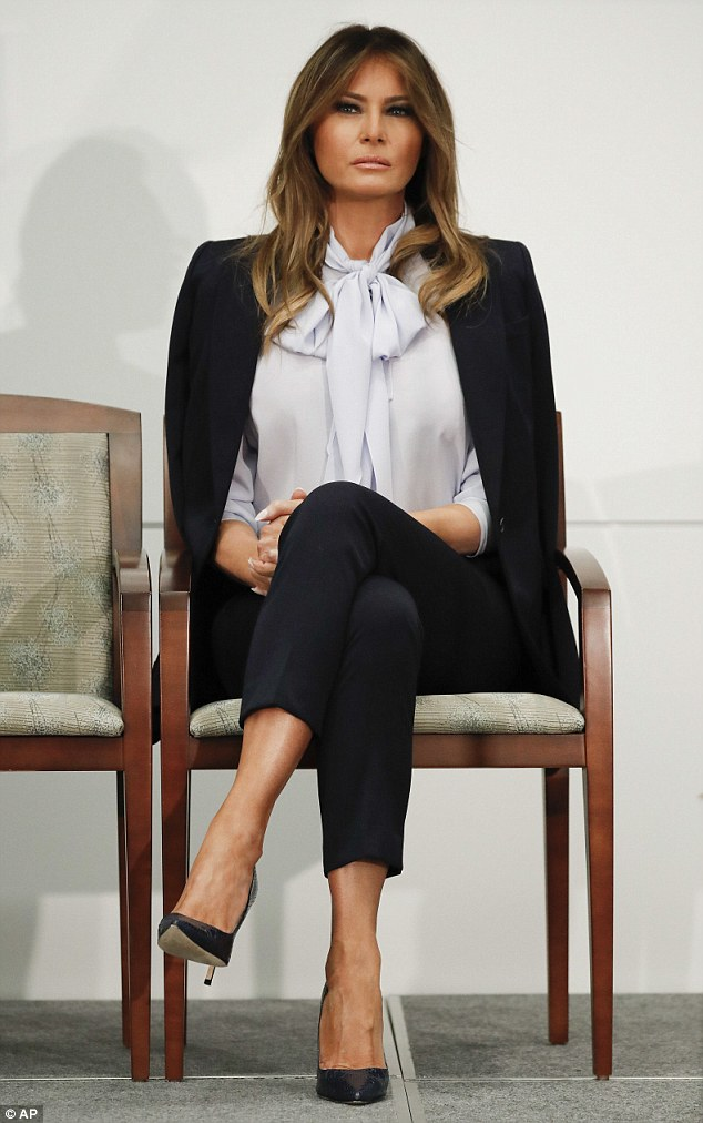 Campaign: The first lady has drawn attention for taking on the issue of cyberbyllying in light of the president's aggressive use of Twitter to berate his foes and call them names