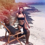 Kim Kardashian share vacation photo with Kanye West