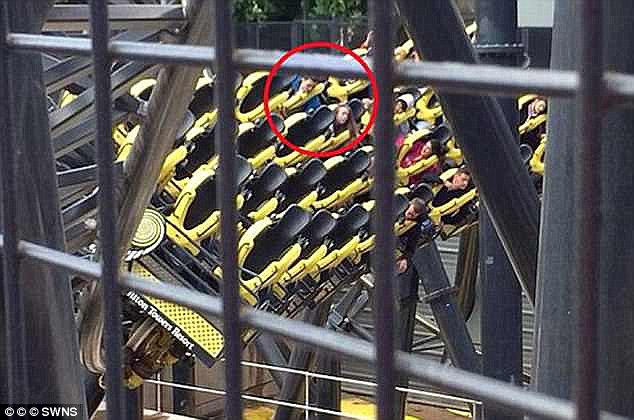 Leah was on her first proper date with boyfriend Joe Pugh when the Smiler rollercoaster carriage smashed into a stationary train at Alton Towers, in Staffordshire, during June 2015 (seen)