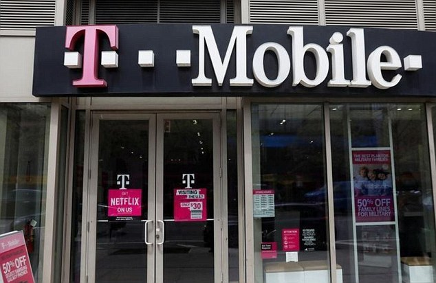 T Mobile said customers's names, addresses, phone number, email address, account number and account type (prepaid or postpaid) were all exposed. It claims no payment or card information had been taken (file photo)