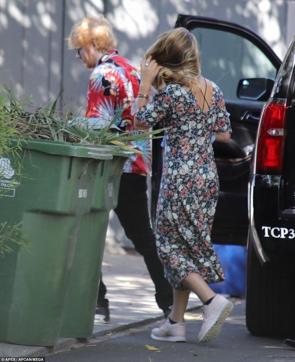 Ed Sheeran And Cherry Seaborn Wear Matching Wedding Bands