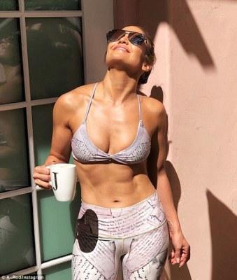 Abs of steel: Jennifer Lopez Gym style