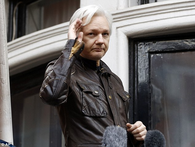 Assange has been holed up at Ecuador's embassy in London since 2012