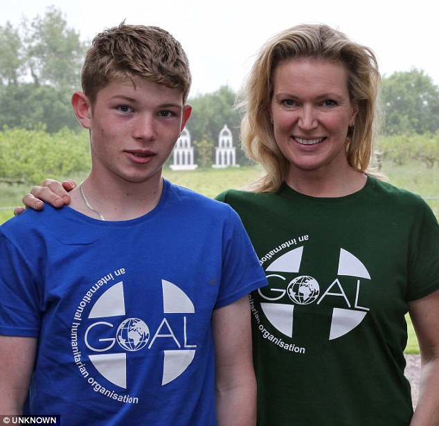 Joshua (right) when aged 14 with his mother, Saturday Kitchen star Rachel Allen (left)