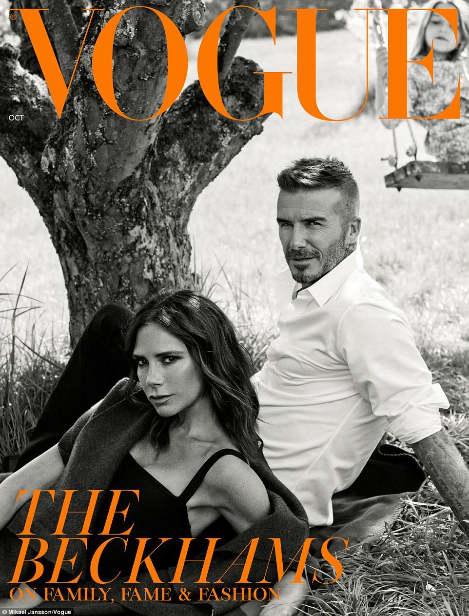 Power couple: Victoria et David Beckham ont uni leurs forces pour une deuxième couverture de VOGUE après avoir écarté les rumeurs de scission, posant ensemble sur l'édition de publication de l'abonné
