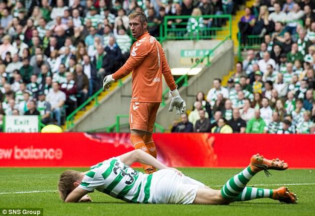 Rangers goalie Allan McGregor escaped sanction for the targeted kick on Celtic's Kristoffer Ajer