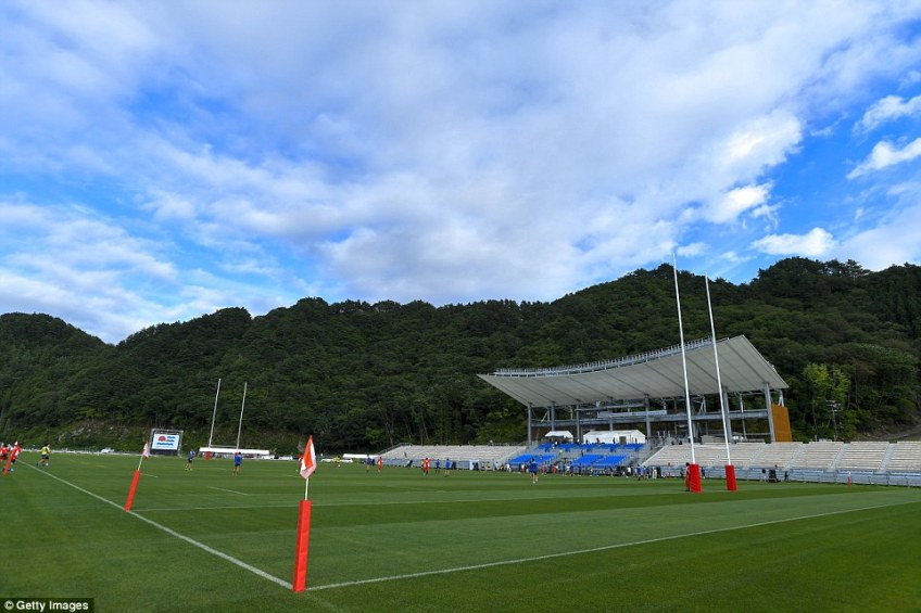 Kamaishi suffered major damage in 2011 and the stadium is part of the Unosumai area's post-disaster recovery project