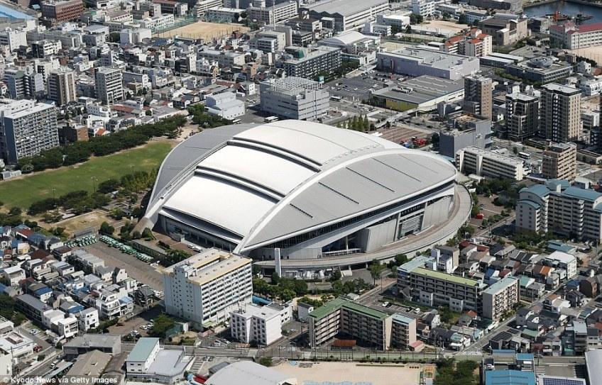 Kobe Misake Stadiumis home to J1 League football team Vissel Kobe, for whom Andres Iniesta and Lukas Podolski play